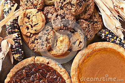 stock image of thanksgiving desserts