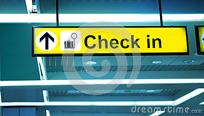 Airport Check-In Area,