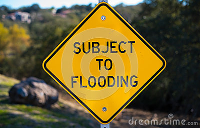 Subject to Flooding Sign