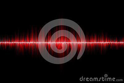 Red sound wave background