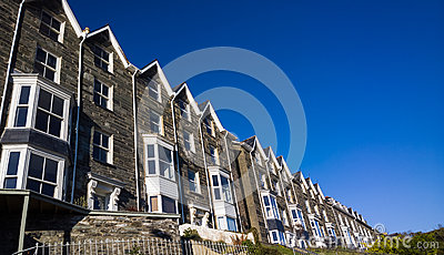 Terraced Housing in Wales UK