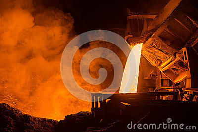 stock image of steel plant