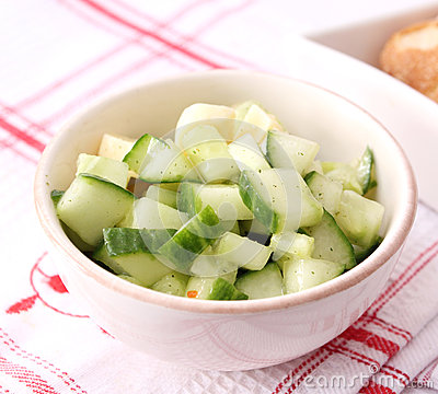 Salad of cucumber