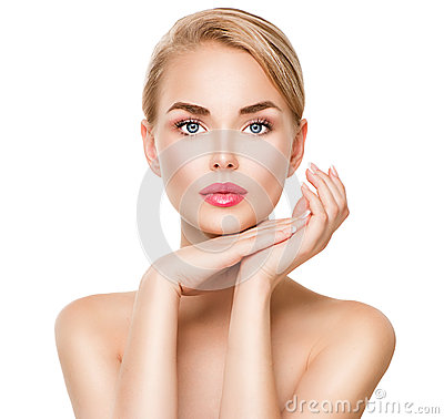 Beauty spa young woman portrait