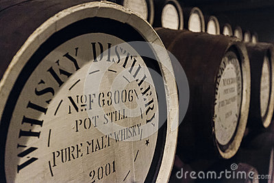 Whisky oak barrels