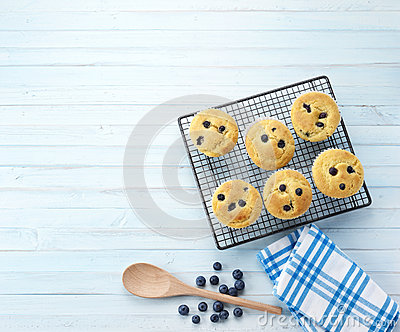 Baking Background Blueberry Muffins