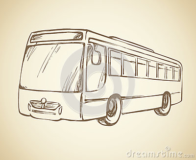 Bus. Vector drawing