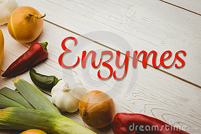 Composite image of enzymes