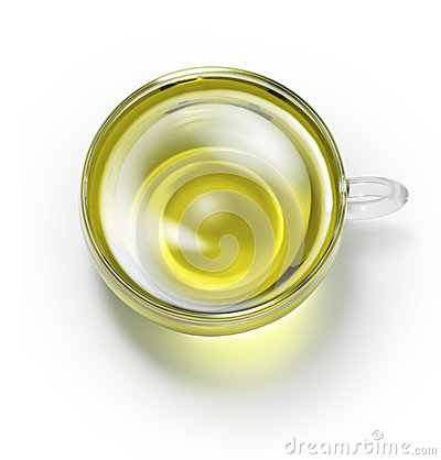 Green Herbal Tea Cup