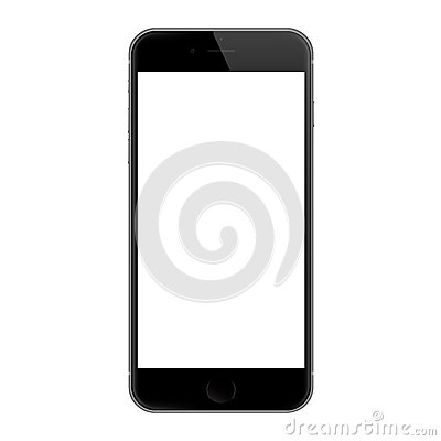 Realistic iphone 6 blank screen vector design, iphone 6 developed by Apple Inc