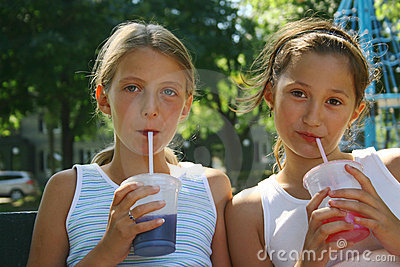 Girls With Takeout Drinks