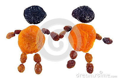 Figure fellows from dried fruits