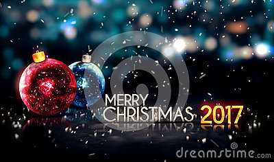merry christmas 2017 night bokeh beautiful 3d background