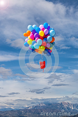 Baloons flying in the air