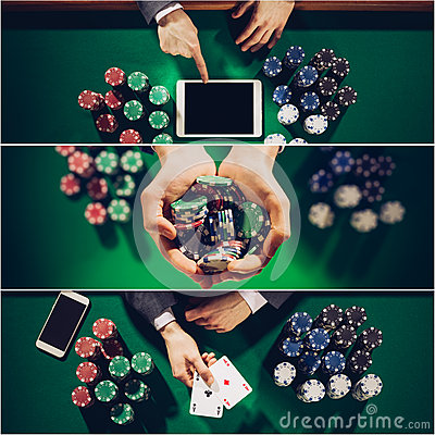 Poker collage