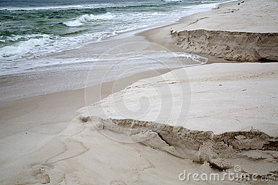 Sandy beaches with waves