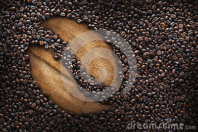 Coffee beans, texture, roasted coffee beans, big bean, cup of coffee