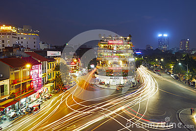 Evening traffic in Hanoi