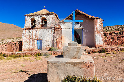 Old church in Atacama Desert, Chile