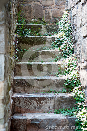Stone blocks stairs