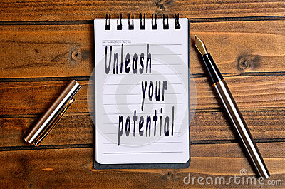 Unleash your potential text