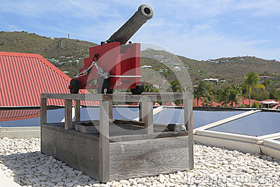 Old cannon at St. Barths, French West indies