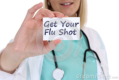 Get your flu shot disease ill illness healthy health doctor nurs