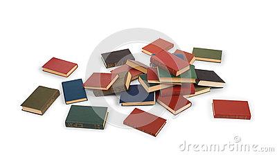 Scattered books on the floor