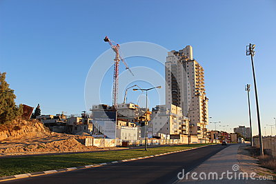 Counstruction site in Beer Sheva, israel