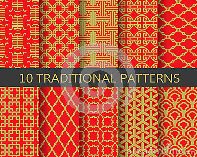 Traditional chinese pattern set, vector