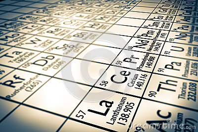 Rare earth chemical elements focus