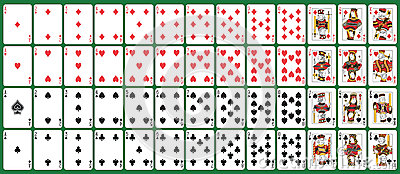 Full deck playing cards