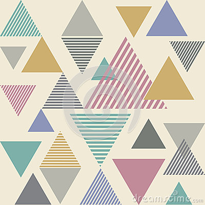 Triangle line stripe abstract background - saturate color tone