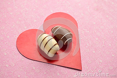 Valentine's day concept with arabic date chocolates.