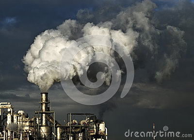 stock image of industry poluiton