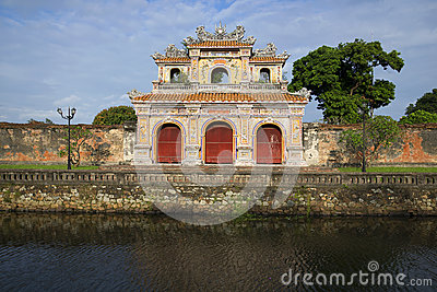 Bastion of the gate in the forbidden Purple city. Hue, Vietnam