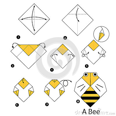 Step By Instructions How To Make Origami Bee