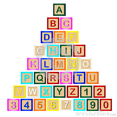 Block Letter Pyramid