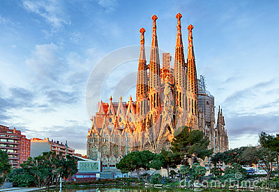 BARCELONA, SPAIN - FEBRUARY 10: La Sagrada Familia