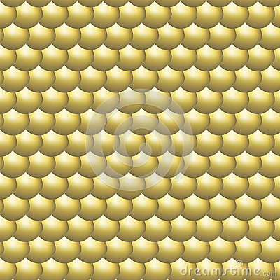 Seamless pattern glossy golden round scales