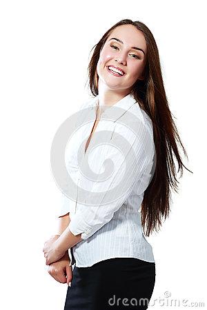 Business woman excited