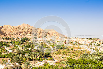 Mount of Temptation next to Jericho - place where Jesus was temp