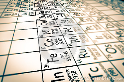 Focus on transition metals chemical elements