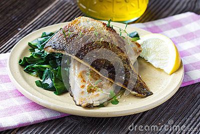 Fish fillet with chard