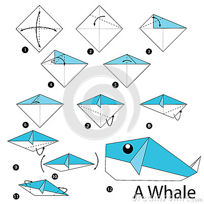 How to make a 3D origami Blue Whale - YouTube | 400x400