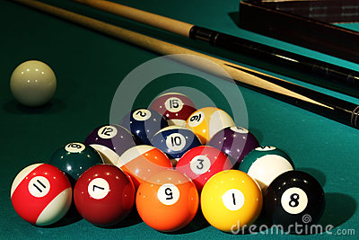 Balls billiards cue sports cloth numbers pocket table tournament race