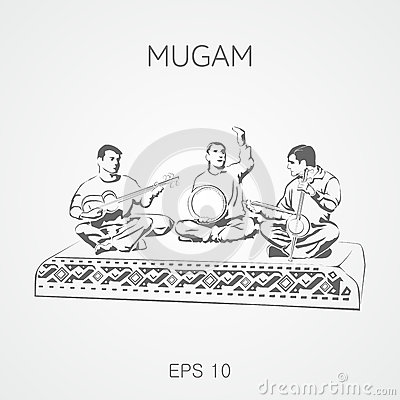 Folk musical compositions from Azerbaijan. Mugam.