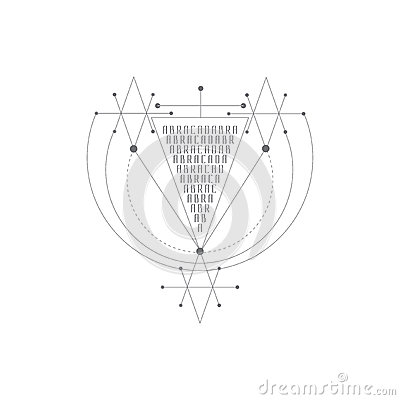 Vector magic alchemy symbol. geometric logo for spirituality, occultism, tattoo art and print. ideal for imagination