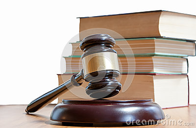 Judicial hammer and codes of laws