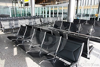 Airport waiting room or lounge